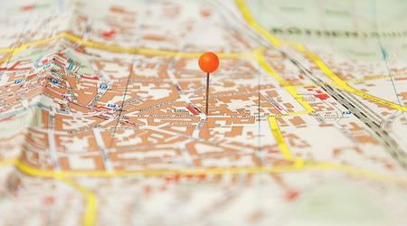 Pin auf Stadtplan