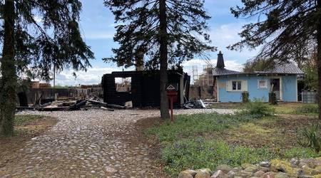 Das Feuer richtete erheblichen Schaden an.