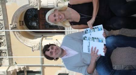 Freuen sich beide über ihre Ausbildung bei der Stadt: Siegfried Makarskyj und Jana Kusmierek.
