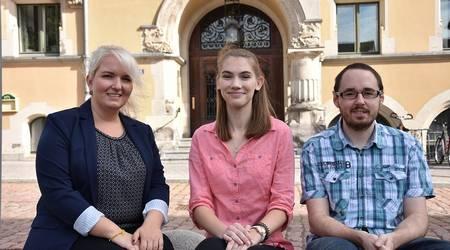 Lisa-Maria Lehmann, Sophia Hempel und Jonathan Holthaus (v.l.) haben ihre Ausbildung begonnen.