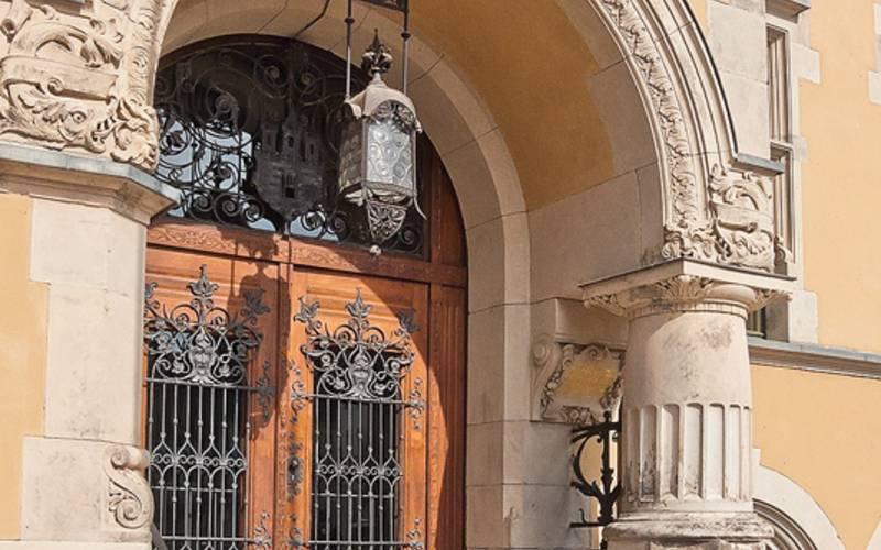 Rathaus Eingang geschlossen