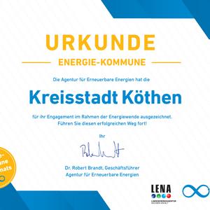 Auszeichnung Energiekommune